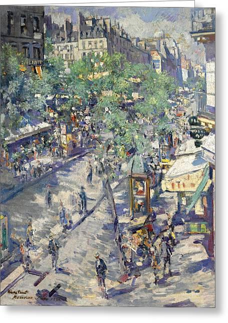 The Boulevards Greeting Cards - The Boulevard of Sevastopol Greeting Card by Konstantin Korovin
