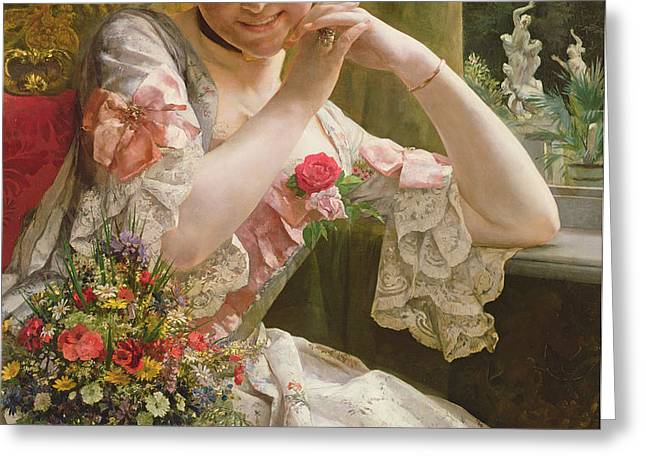 The Bouquet Greeting Card by Albert Raudnitz