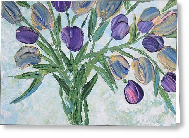 The Bouquet I Greeting Card by Molly Roberts