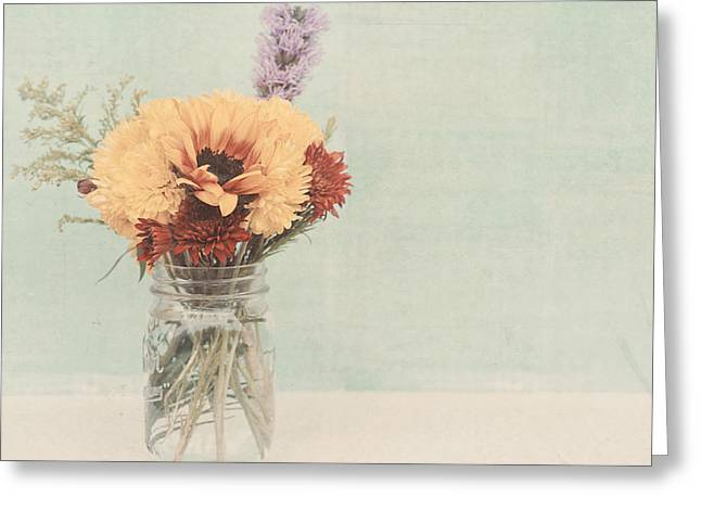 Floral Photographs Greeting Cards - The bouquet Greeting Card by Nastasia Cook