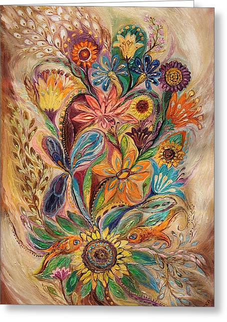 Kabbalistic Greeting Cards - The bouquet of Life Greeting Card by Elena Kotliarker