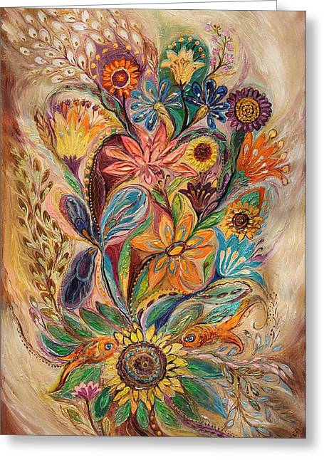 The Bouquet Of Life Greeting Card by Elena Kotliarker