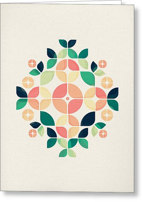 Abstract Nature Digital Greeting Cards - The Bouquet Greeting Card by VessDSign
