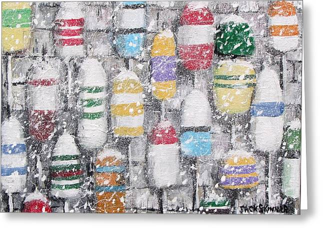 The Bouys were hung on the shack with care Greeting Card by Jack Skinner