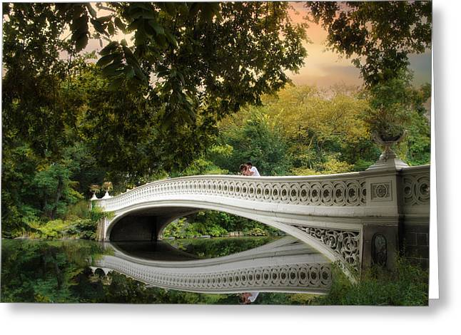 Bridge Greeting Cards - The Bow Bridge Greeting Card by Jessica Jenney