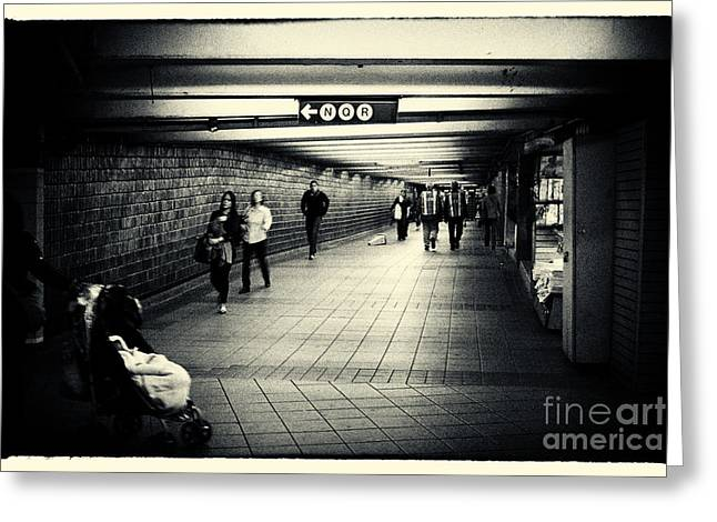 Cities Greeting Cards - The Bowels of the Subway New York City Greeting Card by Sabine Jacobs
