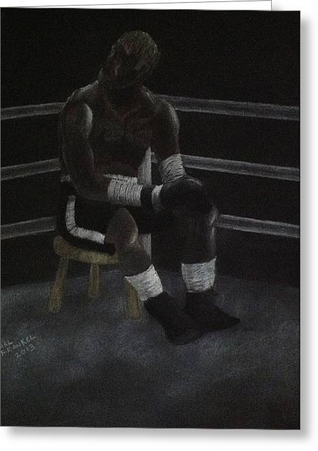 Boxer Drawings Greeting Cards - The Boxer 2013 Greeting Card by Carl Frankel