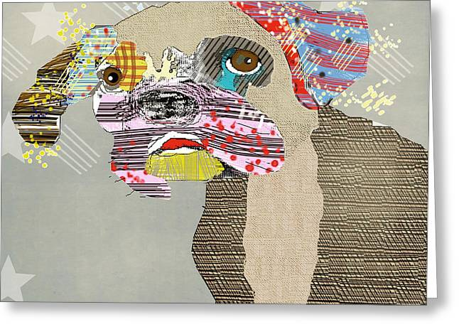 Spaniel Digital Art Greeting Cards - The Boxer Dog Greeting Card by Bri Buckley