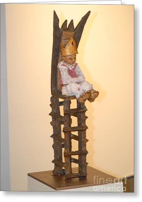 Chairs Sculptures Greeting Cards - The Boy King Greeting Card by Katie Thomas