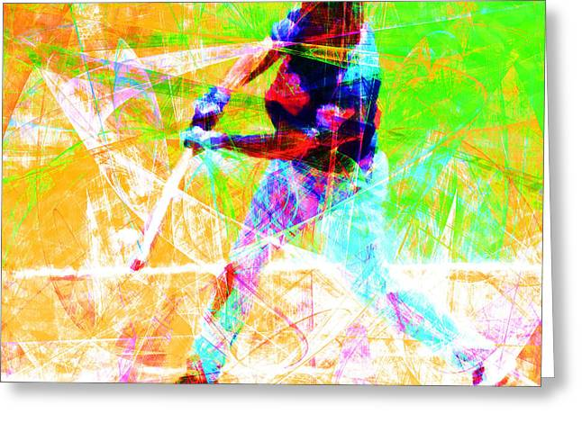 Att Baseball Park Greeting Cards - The Boys of Summer 5D28228 The Batter Square Greeting Card by Wingsdomain Art and Photography