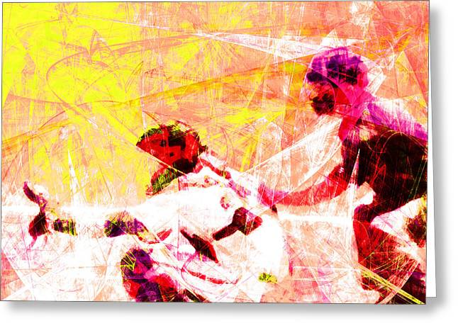 Att Baseball Park Greeting Cards - The Boys of Summer 5D28228 The Catcher Square v2 Greeting Card by Wingsdomain Art and Photography