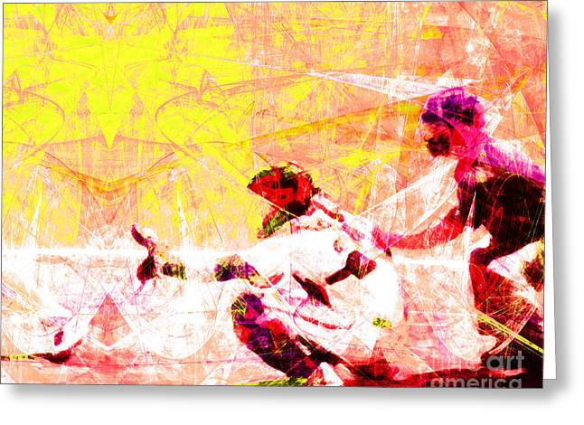 Att Baseball Park Greeting Cards - The Boys of Summer 5D28228 The Catcher v2 Greeting Card by Wingsdomain Art and Photography