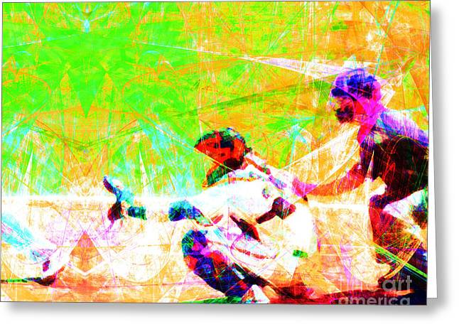 Minor League Greeting Cards - The Boys of Summer 5D28228 The Catcher Greeting Card by Wingsdomain Art and Photography