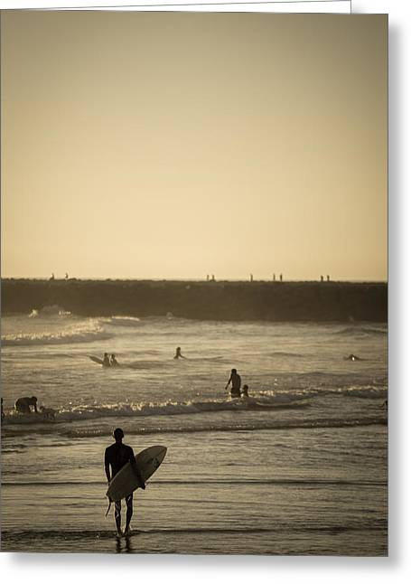 California Beaches Greeting Cards - The Boys of Summer Greeting Card by Peter Tellone
