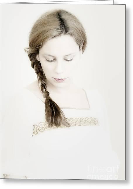 Side Braid Greeting Cards - The Braid Greeting Card by Margie Hurwich