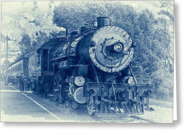 Jimmy Rogers Greeting Cards - The Brakeman - Vintage Greeting Card by Robert Frederick