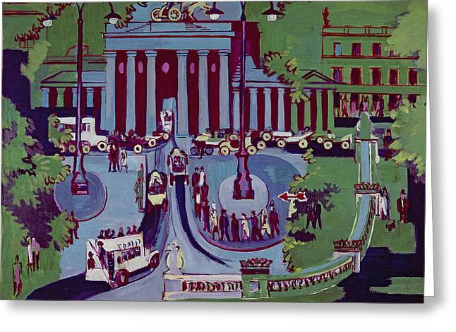 Ernst Greeting Cards - The Brandenburg Gate Berlin Greeting Card by Ernst Ludwig Kirchner