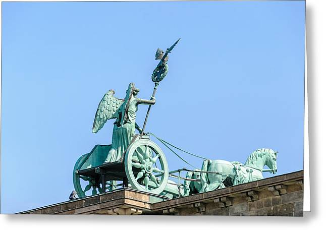 Bronce Greeting Cards - The Brandenburg Gate Quadriga - Berlin Germany Greeting Card by Colin Utz