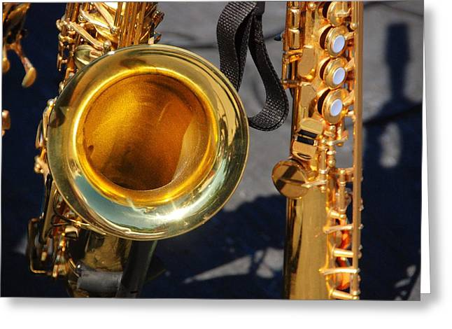 Intruments Greeting Cards - The Brass Section Greeting Card by John Schneider