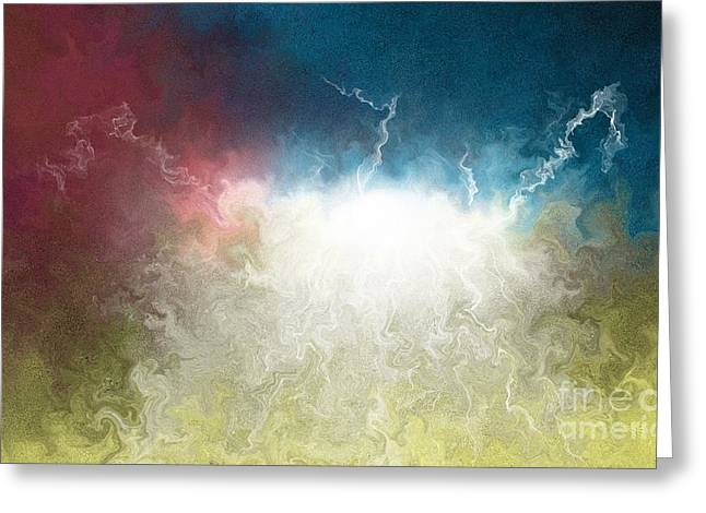 Sun Breaking Through Clouds Greeting Cards - The Breakthrough Greeting Card by Shane Weiss