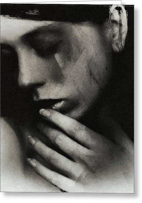 Sorrow Greeting Cards - The breath of death Greeting Card by Gun Legler