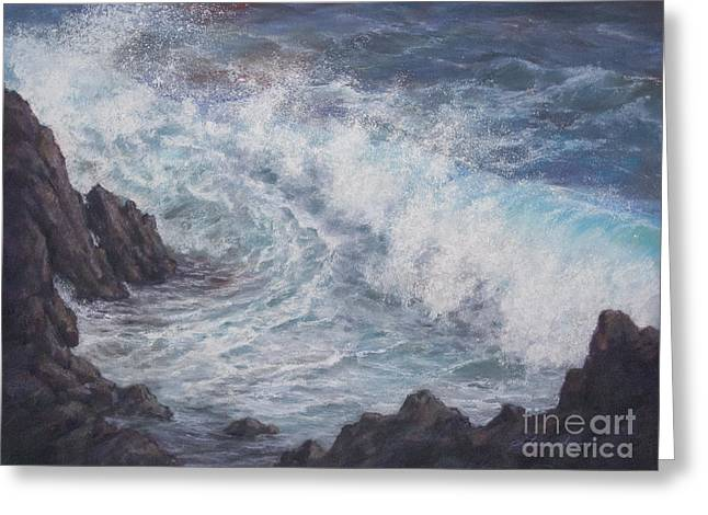 Ocean Shore Pastels Greeting Cards - The Breath of Kanaloa Greeting Card by Candace D Fenander