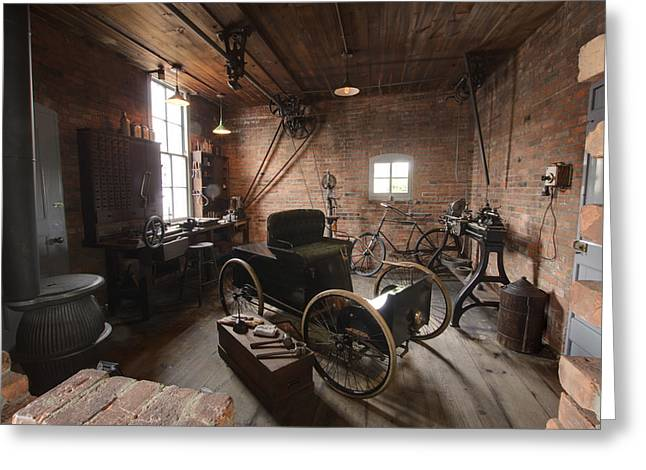 1896 Framed Prints Greeting Cards - The Brick Ford Workshop Greeting Card by Paul Cannon