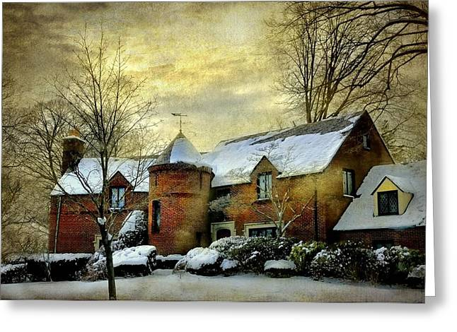 Westchester County Greeting Cards - The Brick Turret Greeting Card by Diana Angstadt
