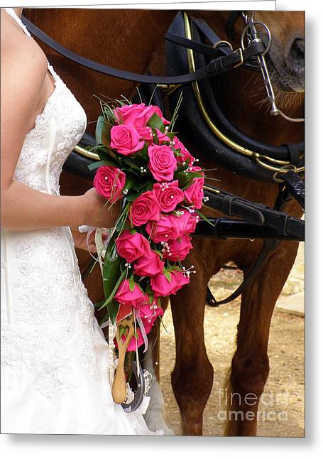 Terri Waters Greeting Cards - The Bride and her Bouquet Greeting Card by Terri  Waters