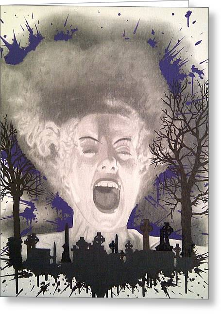 Tombstone Drawings Greeting Cards - The Bride Greeting Card by Asev One