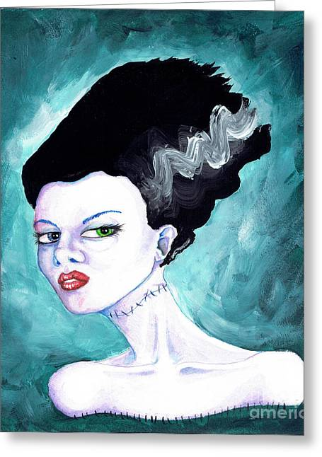 Stein Greeting Cards - The Bride Greeting Card by Christopher Moonlight