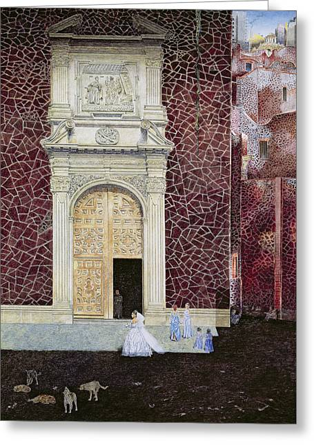 Vernacular Architecture Greeting Cards - The Bridegroom Never Came, 2001 Oil On Canvas Greeting Card by James Reeve