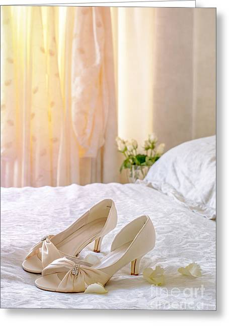 Valentines Day Greeting Cards - The Brides Sandals Greeting Card by Amanda And Christopher Elwell