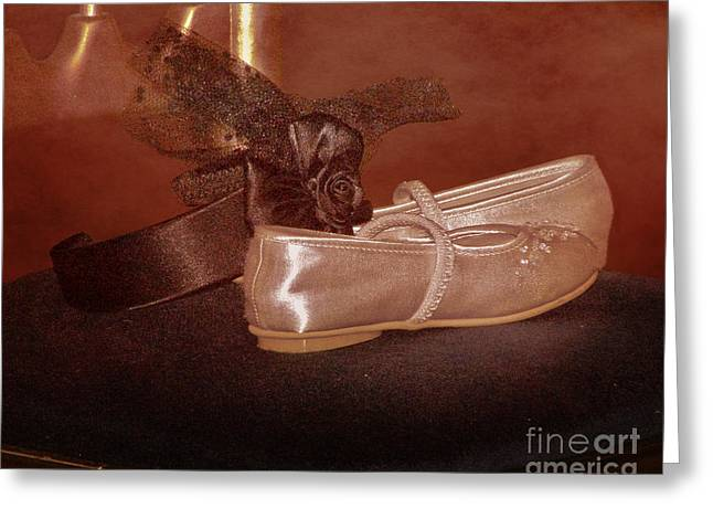 White Cloth Greeting Cards - The Bridesmaids Shoes Greeting Card by Terri  Waters