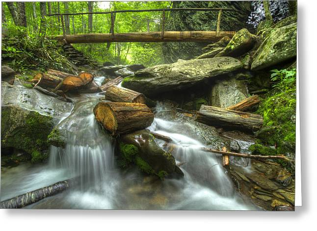 Gatlinburg Tennessee Greeting Cards - The Bridge at Alum Cave Greeting Card by Debra and Dave Vanderlaan