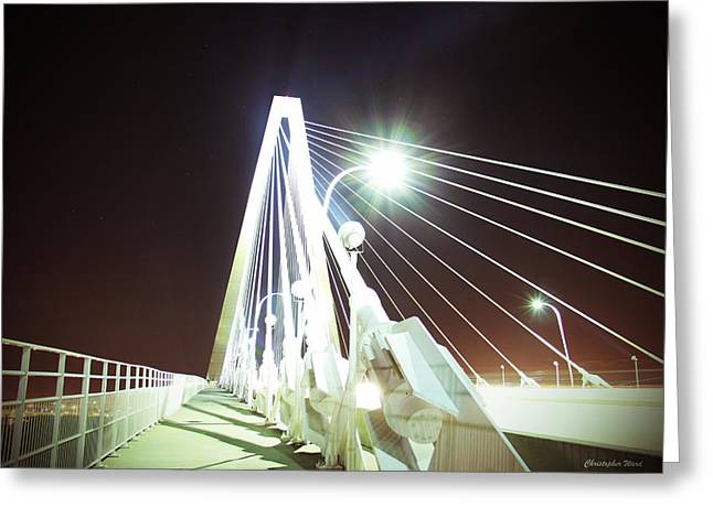 Bridge Framed Prints Greeting Cards - The Bridge Greeting Card by Christopher  Ward