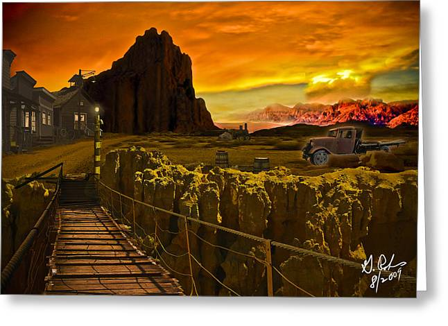The Bridge Greeting Card by Gerry Robins