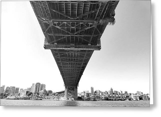 Covered Bridge Greeting Cards - The Bridge Greeting Card by Girish J
