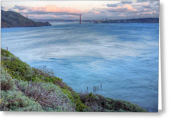 San Francisco Cali Greeting Cards - The Bridge Greeting Card by JC Findley