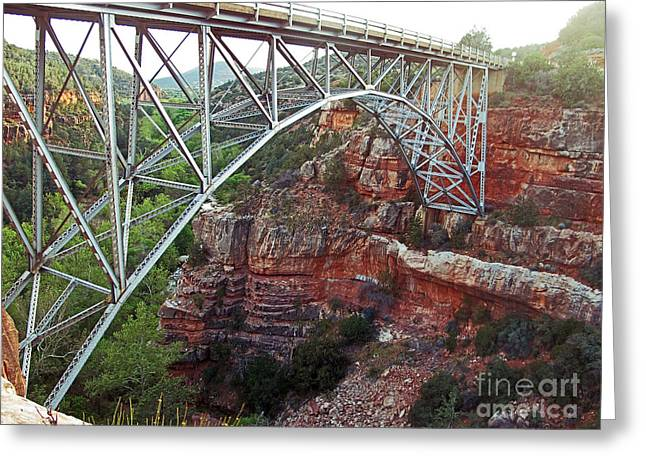 Grounding Greeting Cards - The Bridge Greeting Card by Kelly Holm