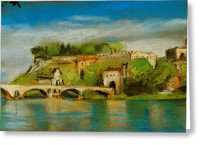 The Bridge Of Avignon Greeting Card by Mona Edulesco