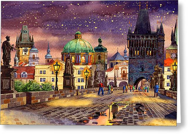 Kafka Digital Art Greeting Cards - The bridge of magic Greeting Card by Dmitry Koptevskiy