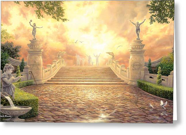 The Bridge Of Triumph Greeting Card by Chuck Pinson