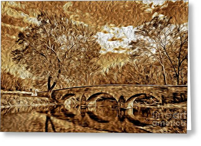 Civil War .tree Greeting Cards - The Bridge Greeting Card by Paul W Faust -  Impressions of Light
