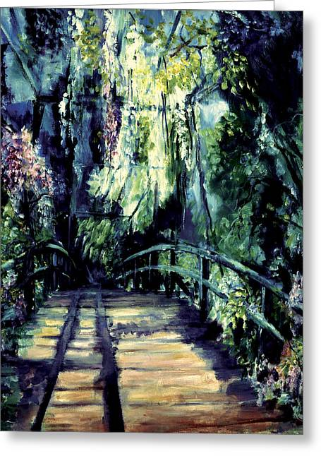 Self Discovery Paintings Greeting Cards - The Bridge Greeting Card by Shari Silvey
