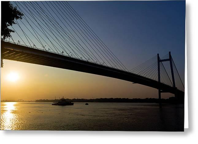 Sourav Bose Greeting Cards - The Bridge Greeting Card by Sourav Bose