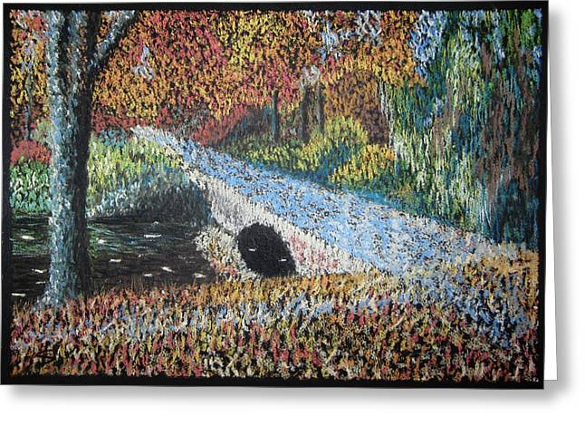 Pointillisme Greeting Cards - The Bridge Greeting Card by Svetlana Ivanova