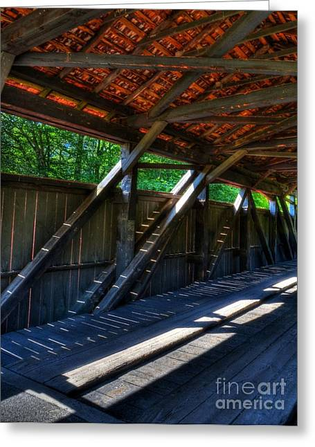 Shade Cover Greeting Cards - The Bridge Timbers Greeting Card by Mel Steinhauer