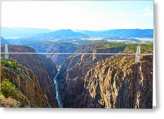 Royal Gorge Bridge Greeting Cards - The Bridge Greeting Card by Tommy Yanks