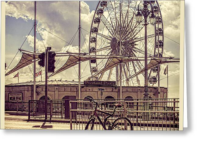 Seaside Digital Art Greeting Cards - The Brighton Wheel Greeting Card by Chris Lord